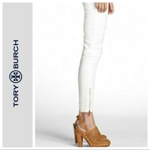TORY BURCH WHITE CROPPED SLIM ANKLE JEAN SIZE 27